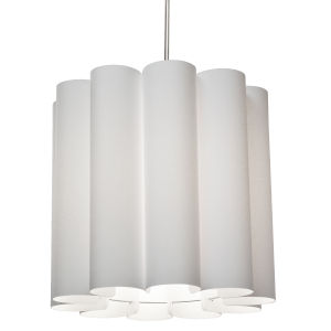 Sandra Milano White 19-Inch One-Light Pendant