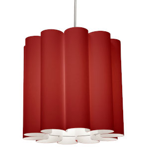 Sandra Red 19-Inch One-Light Pendant
