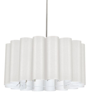 Sandra Milano White 24-Inch Four-Light Pendant