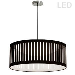 Black with Polished Chrome LED Pendant