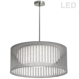 Gray with Polished Chrome LED Pendant