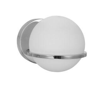 Sofia Polished Chrome with Opal White One-Light Wall Sconce