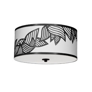 Sophia Black Three-Light Flush Mount