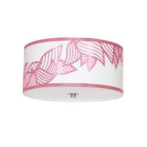Sophia Pink Three-Light Flush Mount