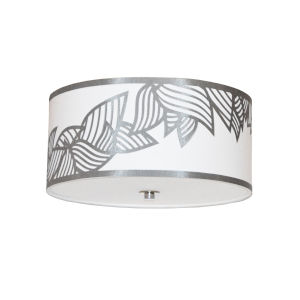 Sophia Silver Three-Light Flush Mount
