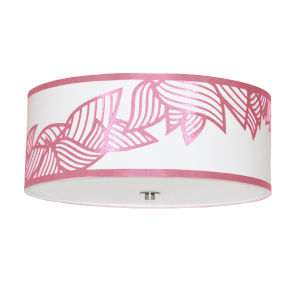 Sophia Pink Four-Light Flush Mount