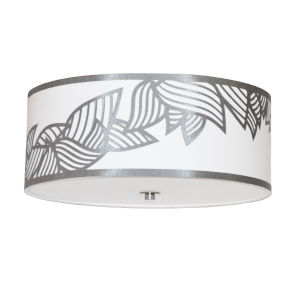 Sophia Silver Four-Light Flush Mount