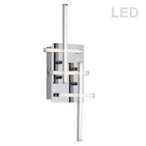 Summit Polished Chrome with White Five-Light LED Wall Sconce