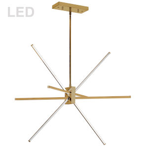 Summit Aged Brass 28-Inch Four-Light LED Pendant