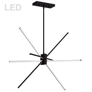 Summit Matte Black 28-Inch Four-Light LED Pendant