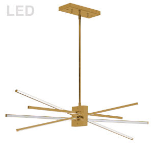 Summit Aged Brass 34-Inch Four-Light LED Pendant
