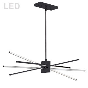 Summit Matte Black 34-Inch Four-Light LED Pendant