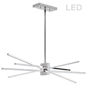 Summit Polished Chrome with White 34-Inch Four-Light LED Pendant