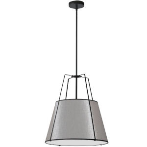 Trapezoid Black with Grey One-Light Pendant
