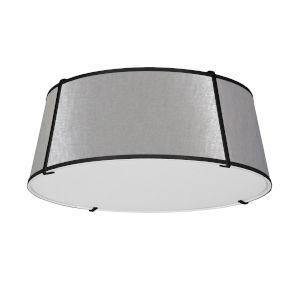 Trapezoid Black and Gray Four-Light Flush Mount