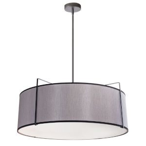 Trapezoid Black with Grey Four-Light Pendant