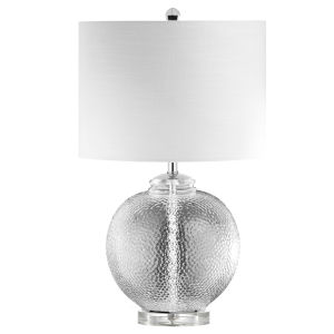 Taylor Clear with Polished Chrome One-Light Table Lamp