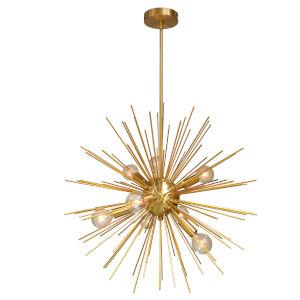Vega Gold Eight-Light Pendant