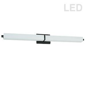 Matte Black 39-Inch LED Bath Bar