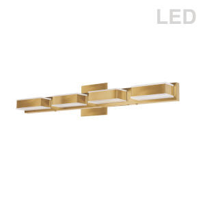 Gold Four-Light LED Bath Vanity