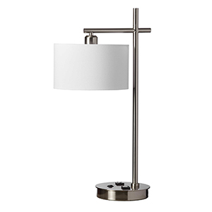 Satin Chrome 10-Inch One-Light Desk Lamp