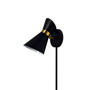 Cameron Black and Vintage Bronze 6-Inch One-Light Wall Lamp