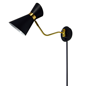 Cameron Black and Vintage Bronze 6-Inch One-Light Swing Arm Lamp