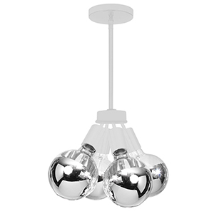 Modern Matte White 6-Inch Four-Light Mini Pendant