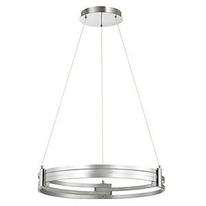 Pono Silver 24-Inch LED Pendant