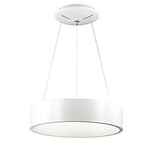 LED White 18-Inch LED Pendant
