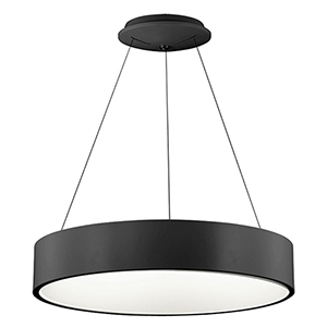 LED Black 24-Inch LED Pendant
