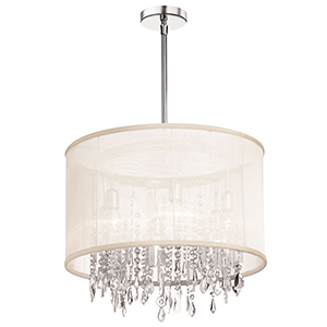 Bohemian Polished Chrome 18-Inch Six-Light Pendant