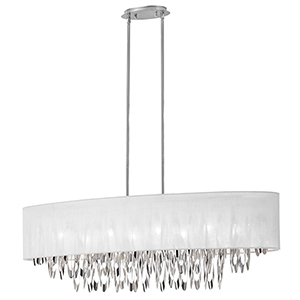 Allegro Polished Chrome 43-Inch Eight-Light Pendant