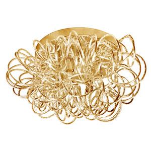 Baya Gold Four-Light  15-Inch Flush Mount
