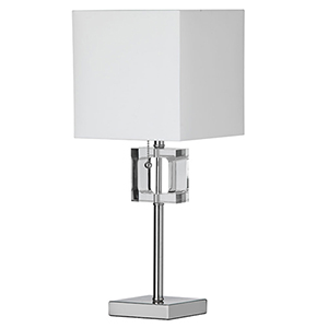 Polished Chrome 8-Inch One-Light Table Lamp