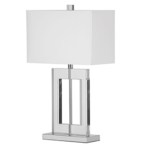 Polished Chrome 15-Inch One-Light Table Lamp
