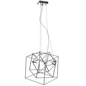 Cubo Polished Chrome Six-Light 16-Inch Pendant