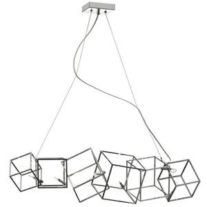 Cubo Polished Chrome Six-Light 9-Inch Chandelier