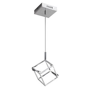 Cubo Polished Chrome 7-Inch Two-Light Mini Pendant