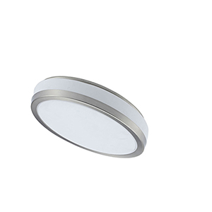 LED Satin Chrome 8-Inch LED Flush Mount