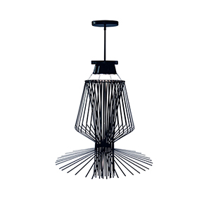 Campana Black Semi-Gloss 29-Inch Three-Light Pendant