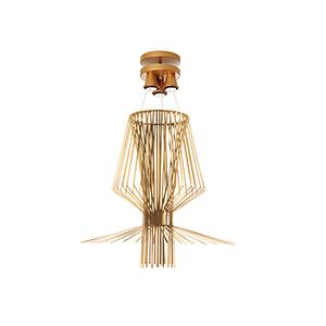 Campana Gold Semi-Gloss 29-Inch Three-Light Pendant
