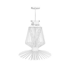 Campana White Semi-Gloss 29-Inch Three-Light Pendant