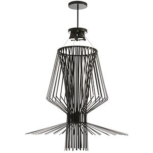 Campana Black Semi-Gloss 40-Inch Four-Light Pendant