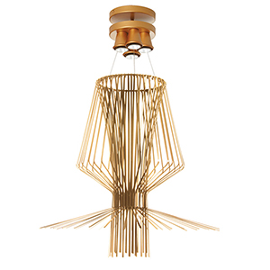Campana Gold Semi-Gloss 40-Inch Four-Light Pendant