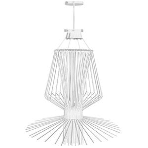 Campana White Semi-Gloss 40-Inch Four-Light Pendant