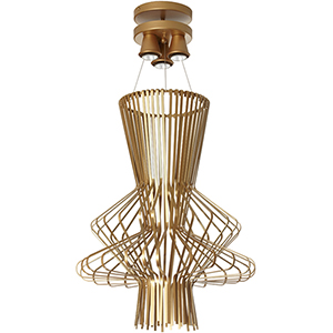 Campana Gold Semi-Gloss 21-Inch Three-Light Pendant