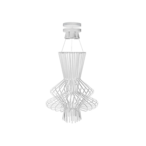 Campana White Semi-Gloss 21-Inch Three-Light Pendant