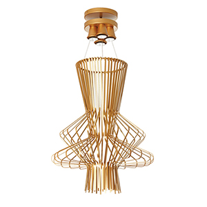 Campana Gold Semi-Gloss 25-Inch Four-Light Pendant