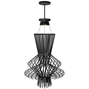 Campana Black Semi-Gloss 25-Inch Four-Light Pendant